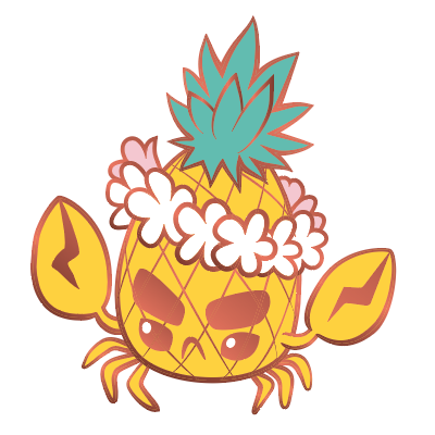 Pineapple Crab Enamel Pin