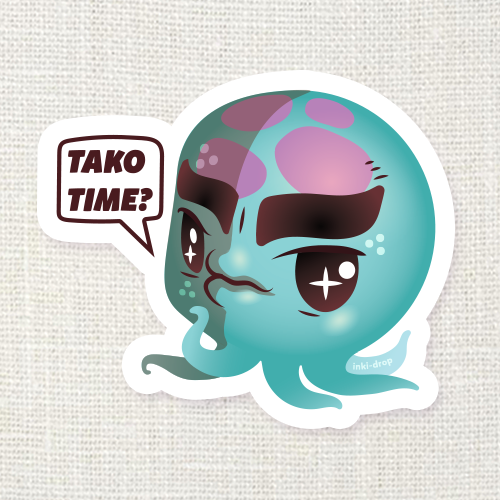 Tako Time Octopus Sticker