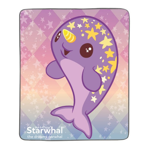 Starwhal Pixel Fleece Blanket