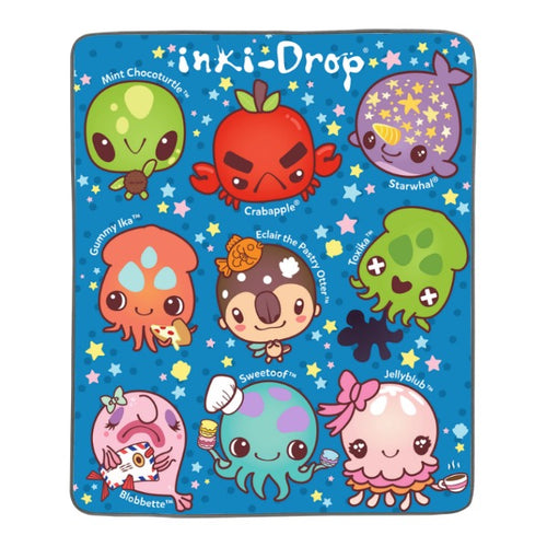 inki-Drop Crew Pixel Fleece Blanket