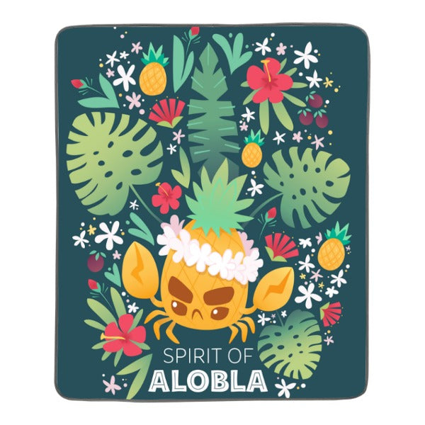 Spirit of Alobla Pixel Fleece Blanket