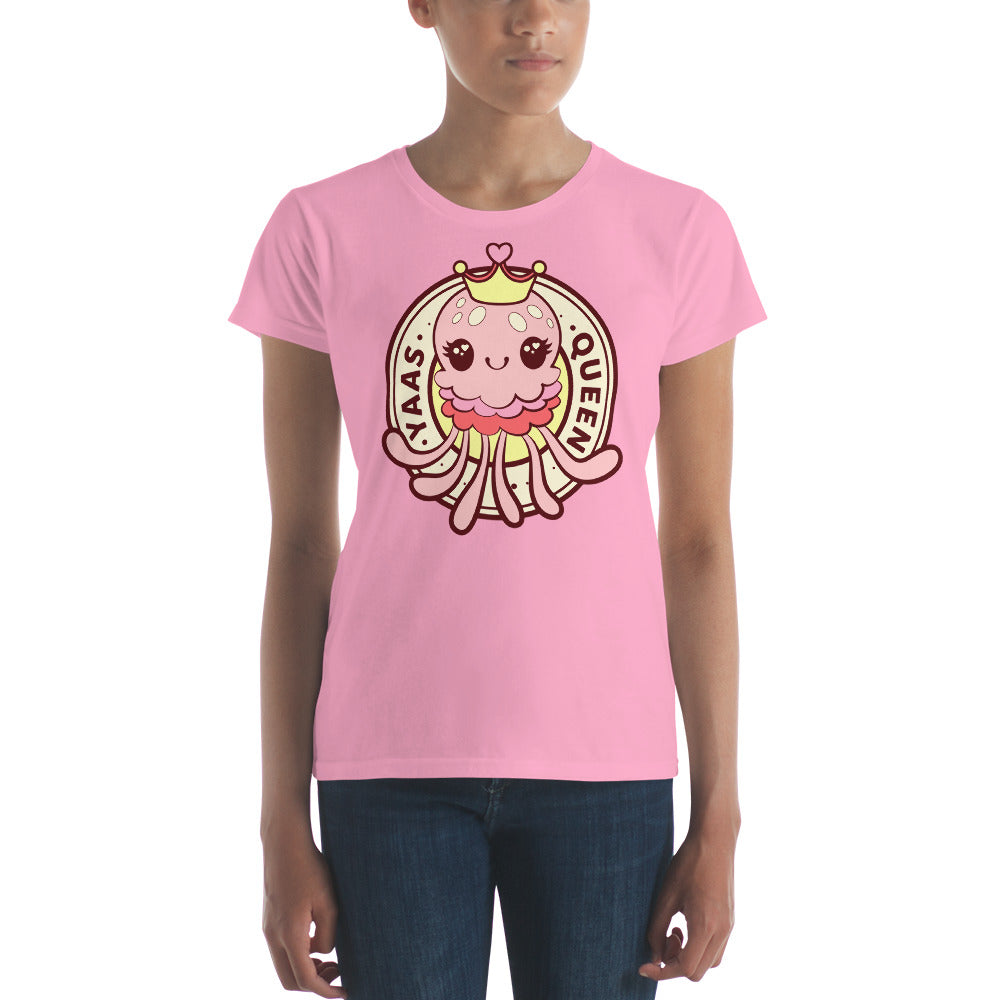 """Yaas Queen"" Jellyblub Women's short sleeve t-shirt"