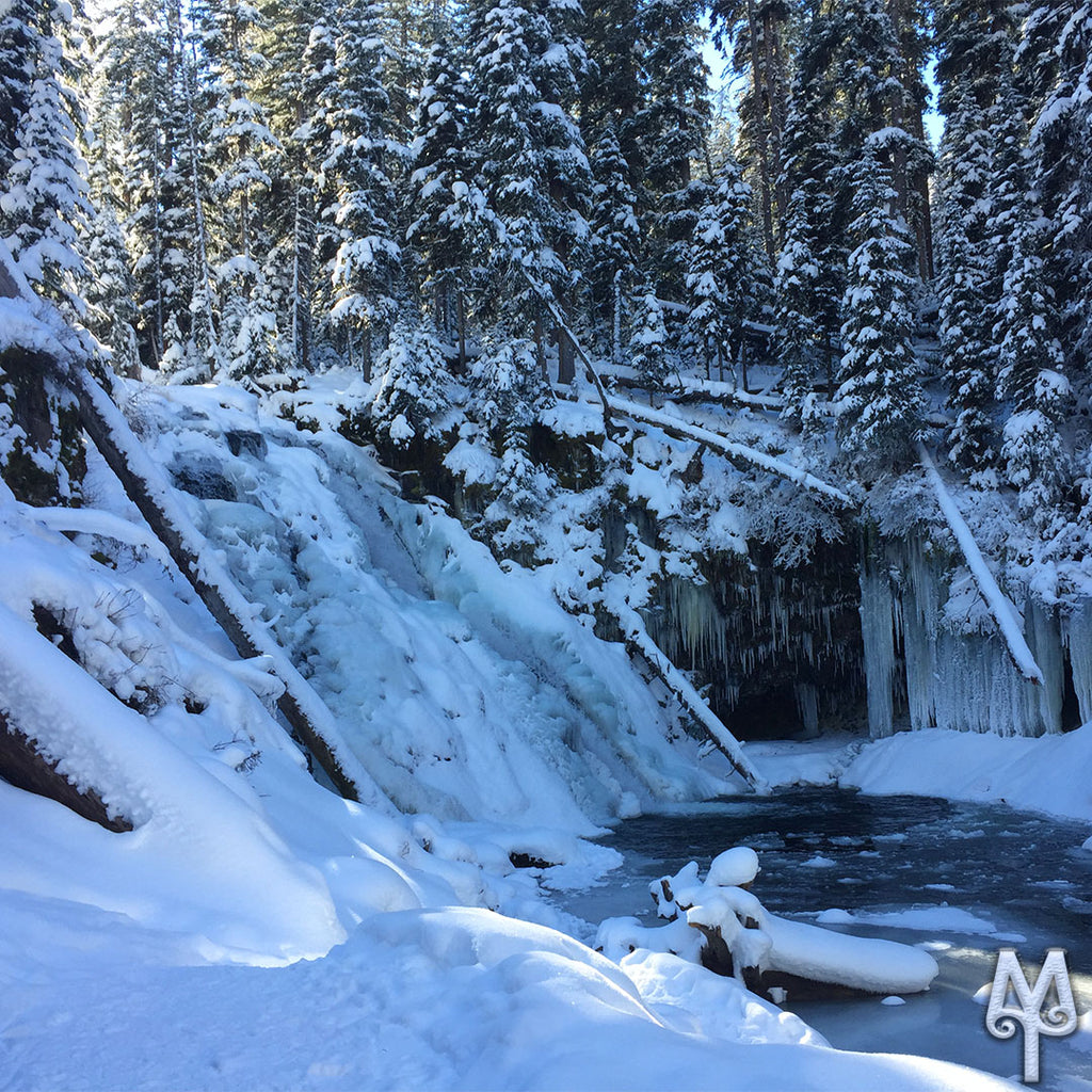 Winter At Grotto Falls
