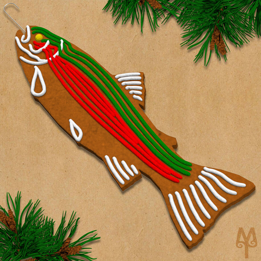 Fly Fishing Gingerbread Cookie Designs