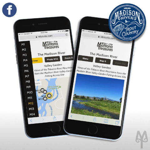 Free Madison River Photo Map by Montana Treasures