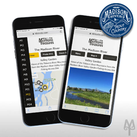 Free, Mobile Friendly, Madison River PhotoMap by Montana Treasures