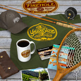 Shop the Yellowstone National Park Explorer Collection of apparel, cabin decor, and accessories by Montana Treasures