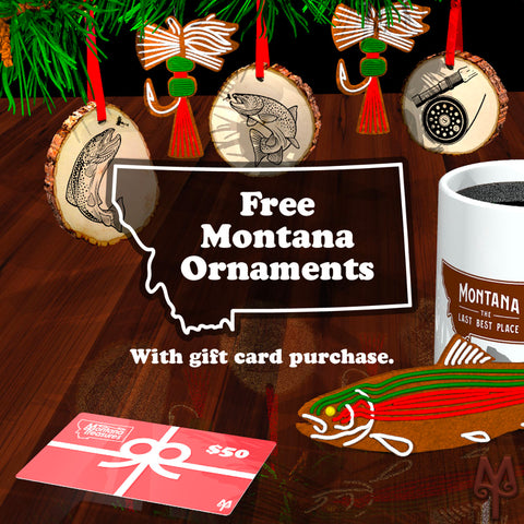 Free Montana themed, Christmas tree ornament with a gift card purchase