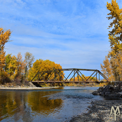 Fall on the Gallatin River, photo by Montana Treasures