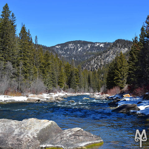 Early Spring on the Gallatin River, near Swan Creek, photo by Montana Treasures
