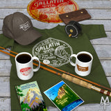 Shop the Gallatin River Explorer Collection of fly fishong apparel, cabin decor, and accessories