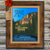 Shop Gallatin River posters and wall signs by Montana Treasures