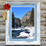 Shop the Gallatin Canyon Winter poster by Montana Treasures
