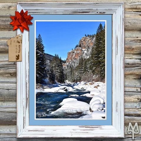 Gallatin Canyon Winter poster by Montana Treasures
