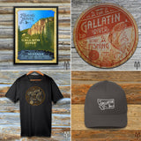 Shop the Gallatin River Explorer Collection of appartel, cabin decor, and accessories