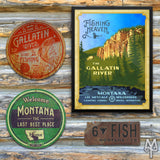 Shop Gallatin River wall signs and posters by Montana Treasures