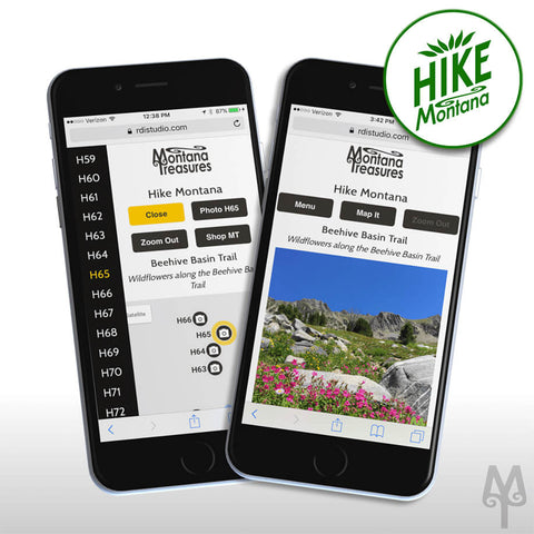 Hike Montana PhotoMap, a free mobile app by Montana Treasures