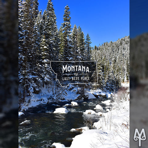 Winter on Hyalite Creek, photo by Montana Treasures