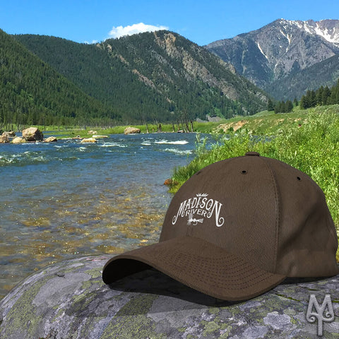 Fly fishing ball caps by Montana Treasures