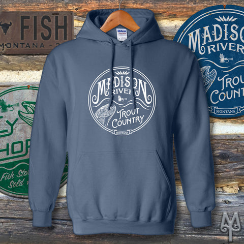 Madison River Trout Country hoodie sweatshirt by Montana Treasures