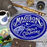 Shop the Madison River Explorer Collection of fly fishing apparel and cabin decor by Montana Treasures