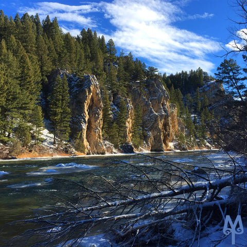 Winter on the Gallatin River near The Inn, Bozeman, Montana