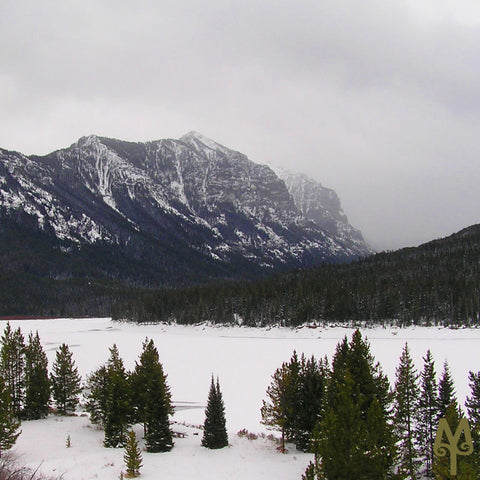 Winter on the Hyalite Range and a frozen Hyalite Reservoir