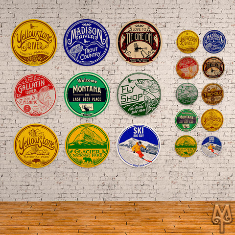 New and Vintage Fly Fishing Wall Signs by Montana Treasures