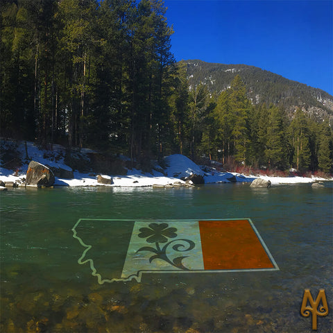 Saint Patrick's Day on the Gallatin River, photo by Montana Treasures