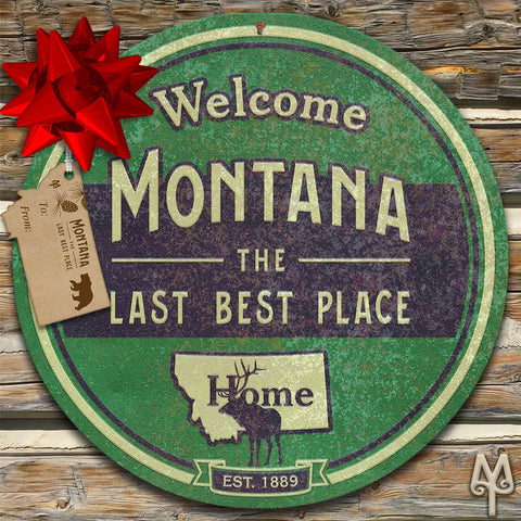 Vintage Montana The Last Best Place wall sign by Montana Treasures