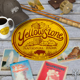 Yellowstone National Park Explorer Collection of apparel, cabin decor, and souvenirs by Montana Treasures