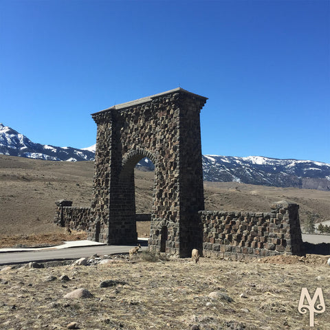 Roosevelt Arch, North Entrance to Yellowstone National Park