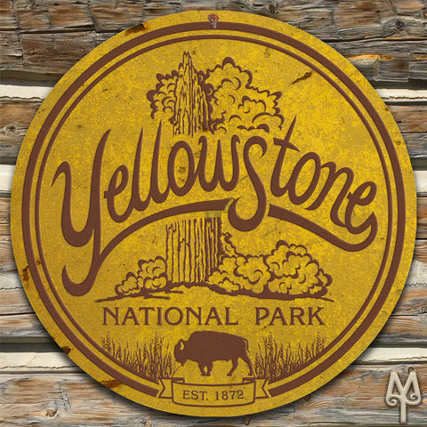 Vintage Yellowstone National Park Wall Sign