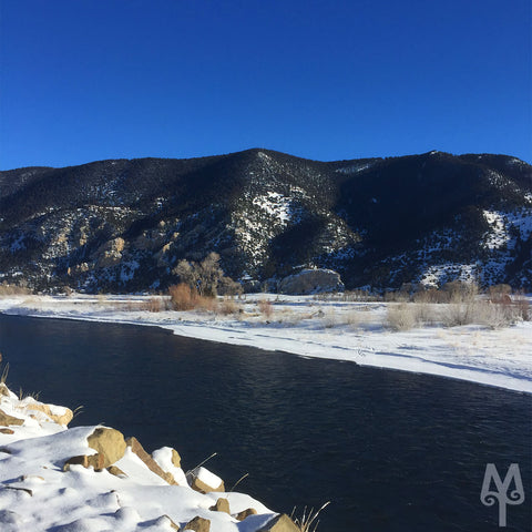 Winter on the Yellowstone River near DePuy Spring Creek