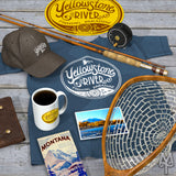 Shop the Yellowstone River Explorer Collection of apparel, cabin decor, and souvenirs by Montana Treasures
