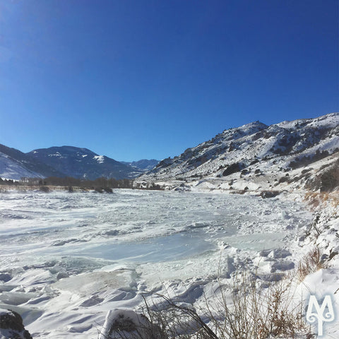 Winter on the Yellowstone River, Point of Rocks