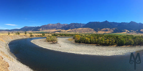 Summer on the Yellowstone River, Paradise Valley, Montana