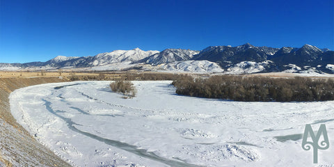 Winter on the Yellowstone River, Paradise Valley, Montana