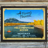 Shop Yellowstone River posters by Montana Treasures