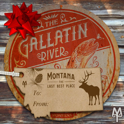 Montana Treasures Gallatin River Gone Fishing Wall Sign gift