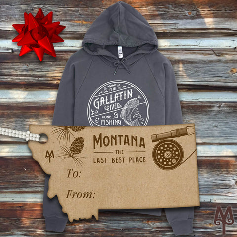 Montana Treasures Fly Fishing Sweatshirts Holiday Gifts