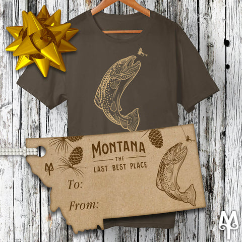 Montana Treasures Brown Trout T-shirt Holiday Gift
