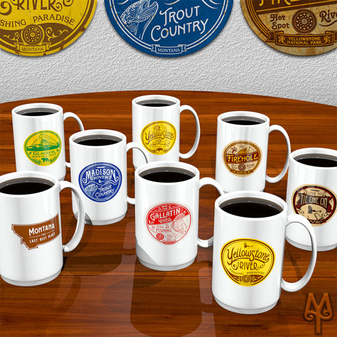 Montana Fly Fishing Coffee Mugs by Montana Treasures