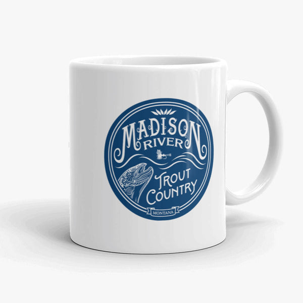 Madison River Trout Country, coffee mug, 11 oz, front