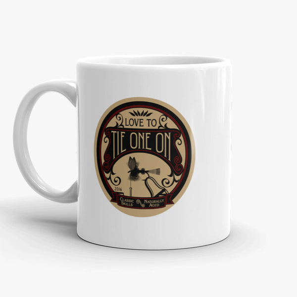 Tie One On, coffee mug, 11 oz, rear