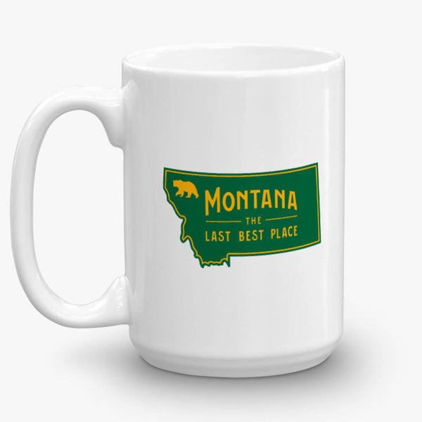 Glacier National Park, coffee mug, 15 oz, rear