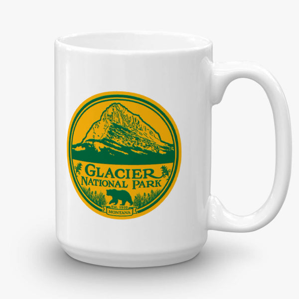 Glacier National Park, coffee mug, 15 oz, front