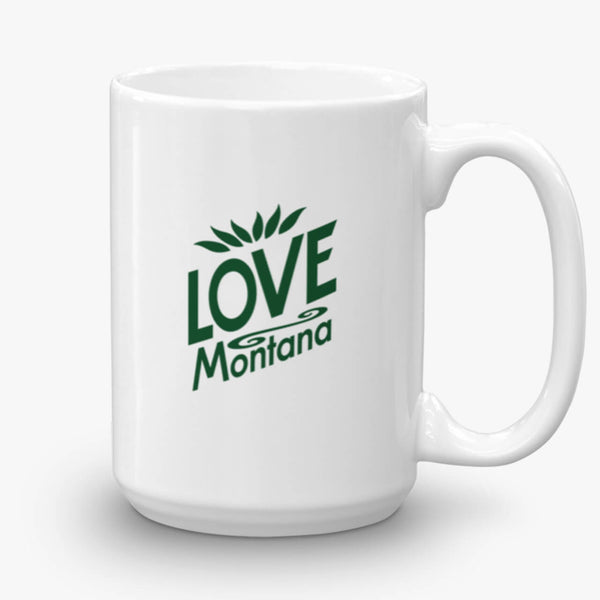 Love Montana, coffee mug, 15 oz, front