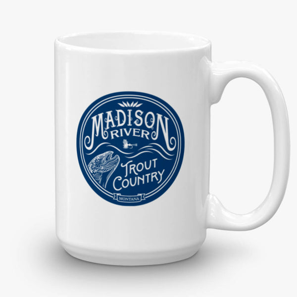 Madison River Trout Country, coffee mug, 15 oz, front