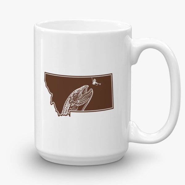 Montana, The Last Best Place, coffee mug, 15 oz, rear